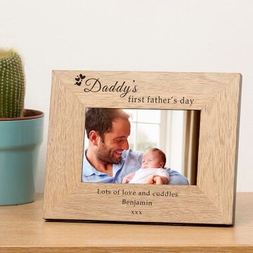 Personalised Daddy's First Father's Day Photo Frame
