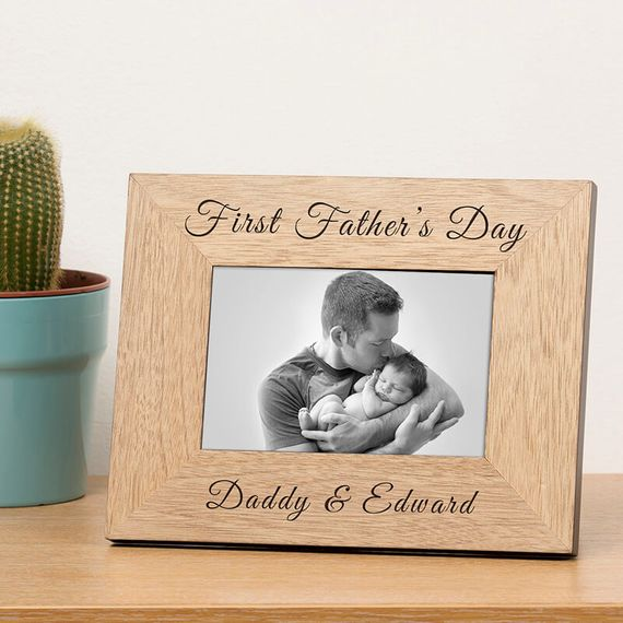 Personalised First Father's Day Photo Frame