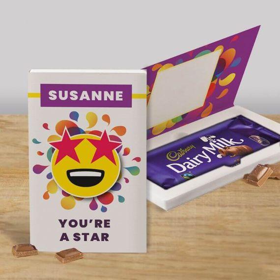 Personalised You're a Star Cadbury Dairy Milk Chocolate Card