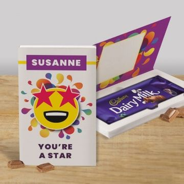 Personalised You're a Star Cadbury Dairy Milk Chocolate Card - 110g