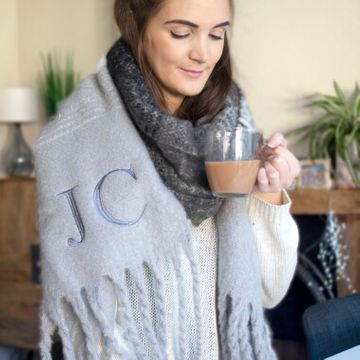 Personalised Women's Super Chunky Scarf