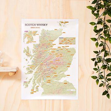 Scotch Whisky Distilleries Scratch Off Print