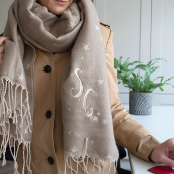 Personalised Women's Oversized Star Scarf