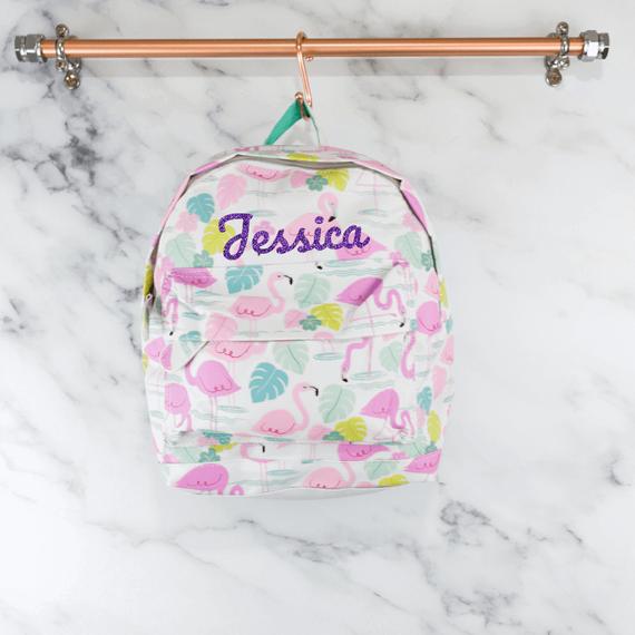 Personalised Flamingo Backpack