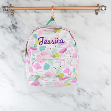 Personalised Flamingo Backpack