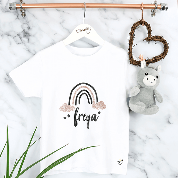 Personalised Rainbow Design T-Shirt