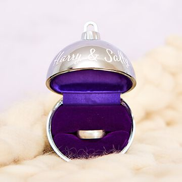 Personalised Bauble Ring Box