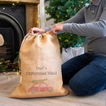 Personalised Home for Christmas Hessian Sack