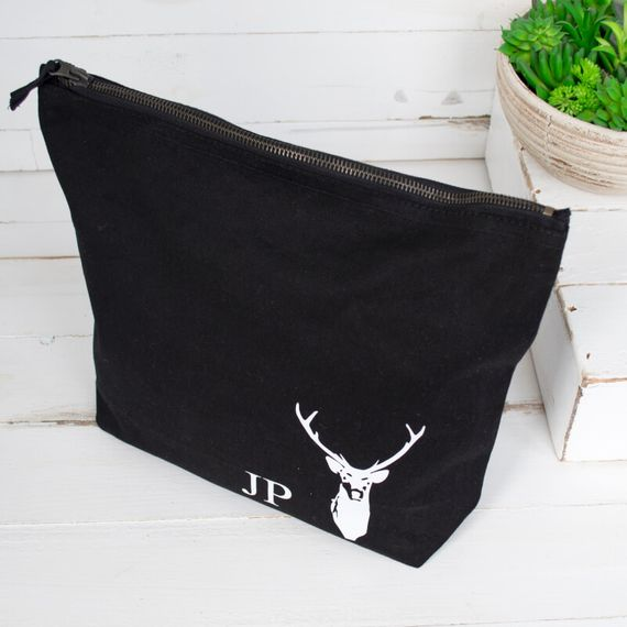 Personalised Men's Stag Wash Bag