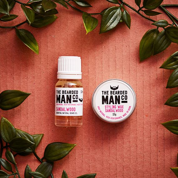 Beard Oil And Moustache Wax Gift Set