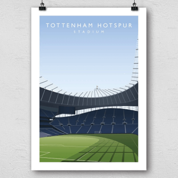 Tottenham Hotspur Stadium Football Ground Print