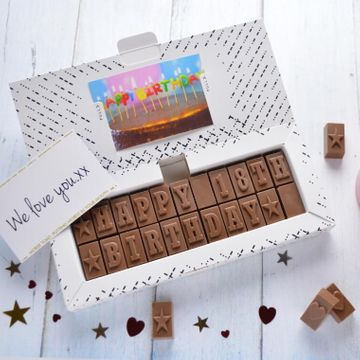 Personalised 18th Birthday Chocolate Message