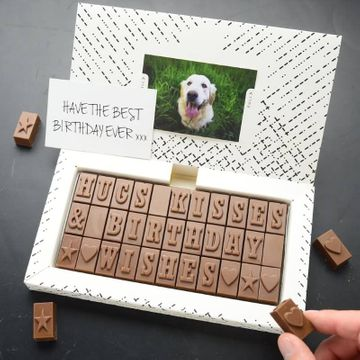 Personalised 21st Birthday Chocolate Message