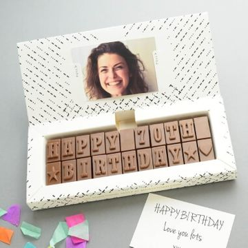 Personalised 70th Birthday Chocolate Message