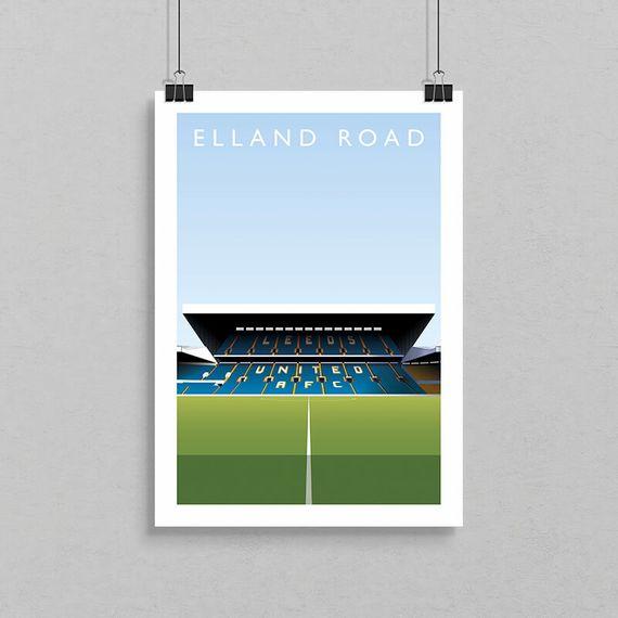 Elland Road Football Ground Print