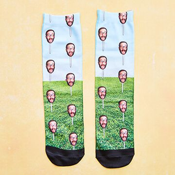Personalised Face Golf Tee Socks