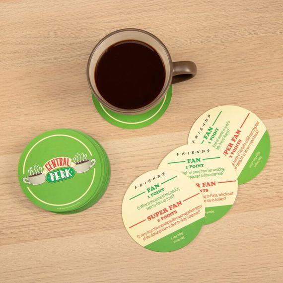 Central Perk Trivia Quiz Coasters