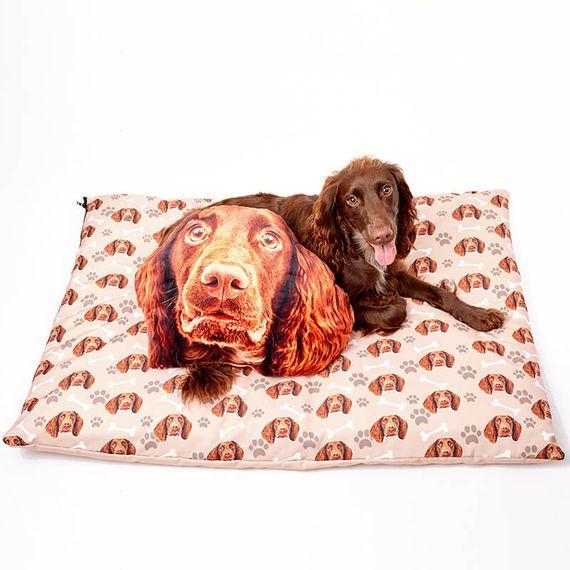 Personalised Dog Face Cushion