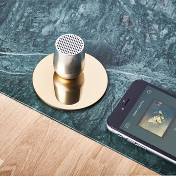 Lexon MINO Bluetooth Speaker - Shiny Aluminium