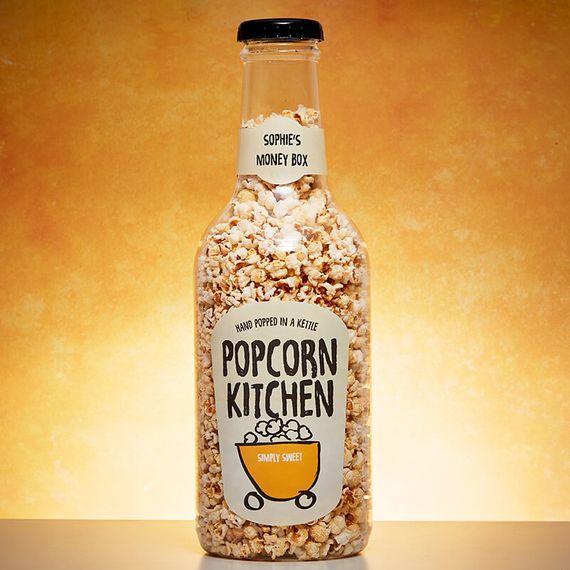 Personalised Popcorn Kitchen Giant Money Box Bottle