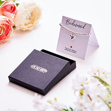 Bridesmaids Heart Bracelet & Thank You Card