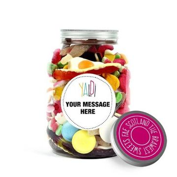 Personalised Greedy Guts Sweets Jar
