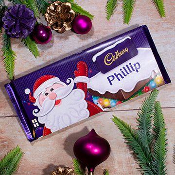 Personalised Cadbury Santa Chocolate Bar - 360g