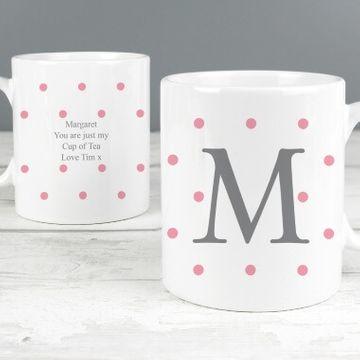 Personalised Pink Spot Mug