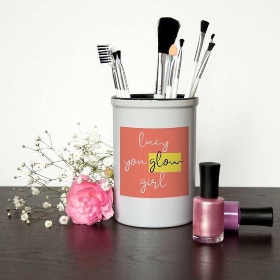 Personalised Glow Girl Make Up Brush Holder