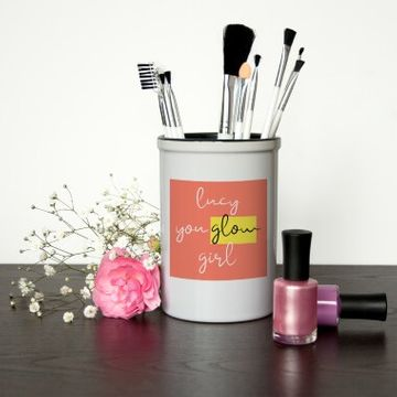 Personalised Glow Girl Make Up Brush Holder