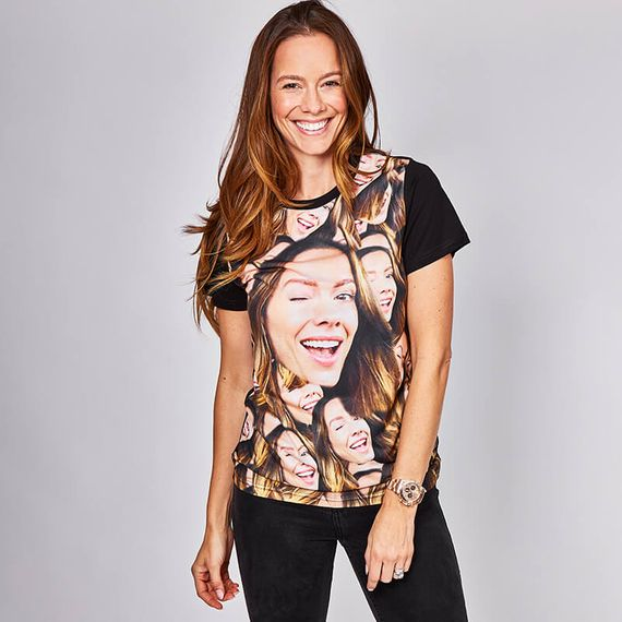 Personalised All Over Face on T-shirt