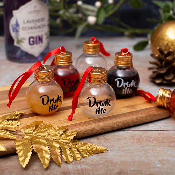 Drink Me Set of 6 Boozy Baubles