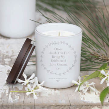 Personalised Wreath Soy Candle