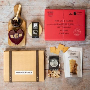 Personalised Cheese Lovers Letter Box Hamper