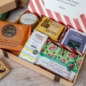 Personalised Health And Wellness Gluten Free Letter Box Hamper