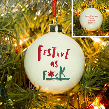 Personalised Festive AF Bauble
