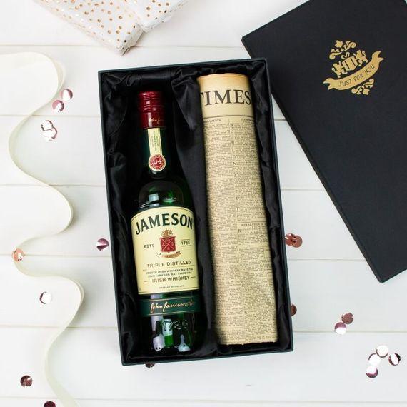 Jameson Irish Whiskey and Original Newspaper