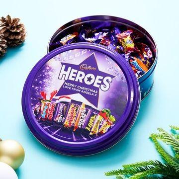 Personalised Cadburys Heroes Christmas Tub