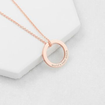 Personalised Family Ring Necklace
