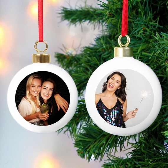 Personalised Double Sided Photo Bauble