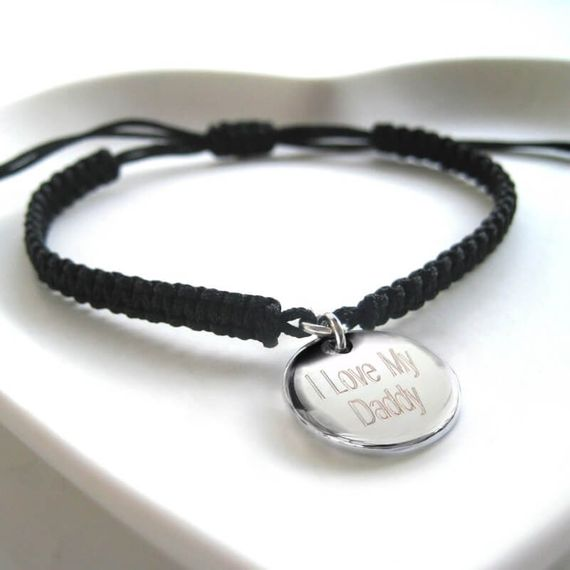 Personalised Men's Braided Cord Bracelet