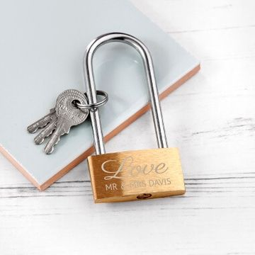 Personalised Lovers Padlock