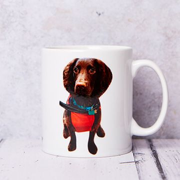 Personalised Cut Out Photo Mug