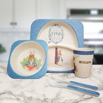 Personalised Peter Rabbit Bamboo Breakfast Set
