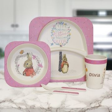 Personalised Flopsy Bamboo Breakfast Set