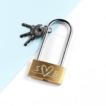 Personalised Couples Padlock