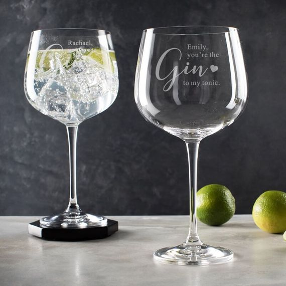 Personalised Gin to My Tonic Gin Glass
