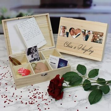 Personalised Love Photo Keepsake Box - 6 Compartments
