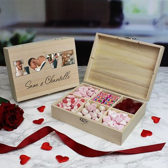 Personalised Love Photo Sweet box - 6 Compartments