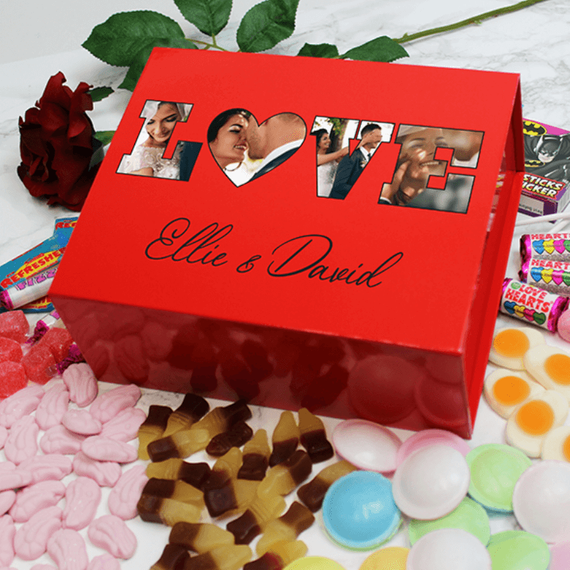 Personalised Love Photo Sweet Box - Red